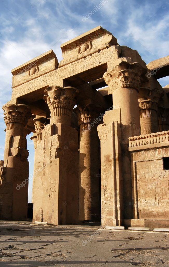 Ancient temple of pharaoh Sobek in Kom Ombo, Egypt                                  Stock Photo #2296570