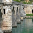 Ancient stone bridge in Visegrad — Stock Photo