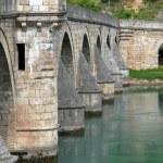 Ancient stone bridge in Visegrad — Stock Photo