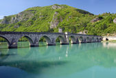 Old stone bridge in Visegrad — Stock Photo