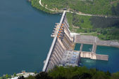 Water barrier dam — Stock Photo