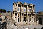 Starověké celsiova knihovna v efes — Stock fotografie