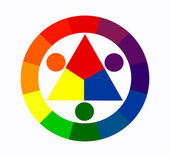 Twelve colors circle — Stock Photo