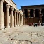 Ancient temple of God Horus in Edfu — Stock Photo