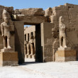 Statue in ancient temple Karnak - Stock Photo