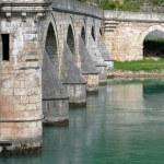 Old stone bridge in Visegrad — Stock Photo