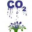 Stock Photo: Abstract CO2 illustration