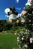 Alten Uhrturm in graz — Stockfoto
