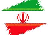 Flagga iran — Stockfoto