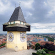 Old clock tower in Graz — Stock Photo #2360188