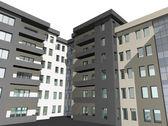 3D render of modern building — Stock Photo