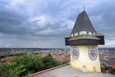 Clock tower in Graz — Stock Photo