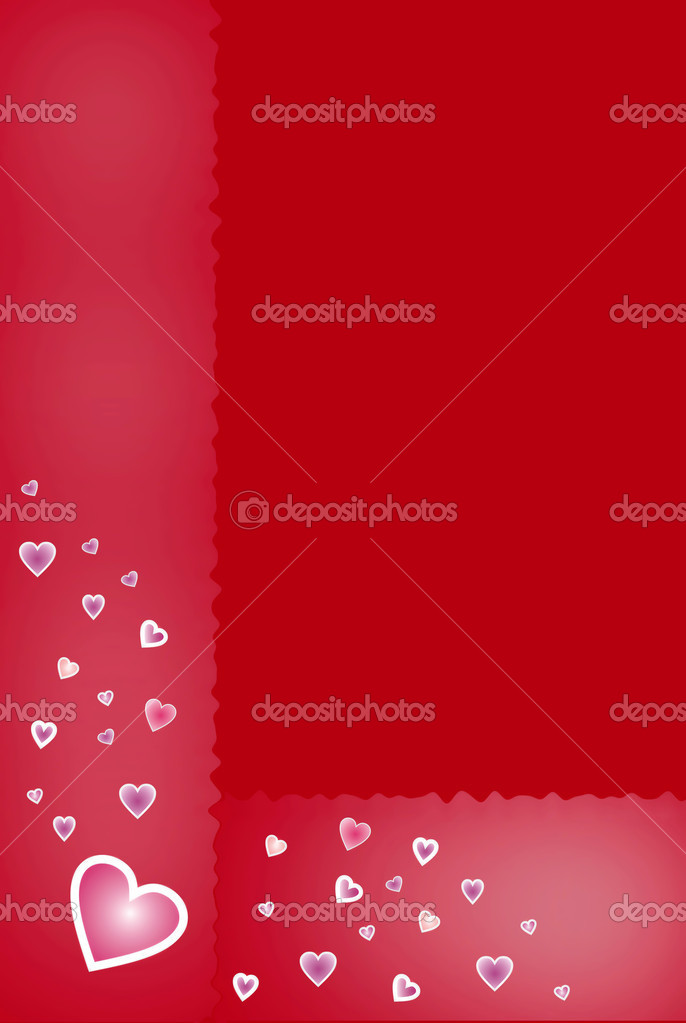 Valentine`s day red background with gradient color hearts  — Stock Photo #2360421