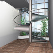 Stock Photo: 3D render of modern interior