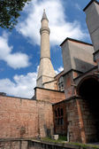 Minaret at Hagia Sofia in Istanbul — Stock Photo
