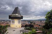 Old clock tower in Graz — Stock Photo