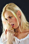 Young attractive female blonde beauty — Stock Photo