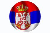 Bandeira sérvia — Fotografia Stock
