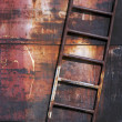 Stock Photo: Old rusty metal ladder