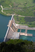 Water barrier dam — Stock Photo