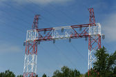 Power line pillar — Stock Photo