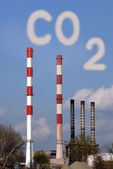 Dangerous toxic CO2 cloud — Stock Photo