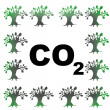 Abstract CO2 illustration — Stock Photo