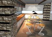 Rendu 3d d'intérieur moderne — Photo