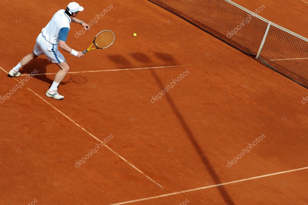 Close up image of player on a tennis court — Stock Photo #2455258