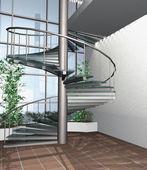 3d Render modernen Interieurs — Stockfoto