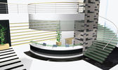 3D office interior — Stock Photo