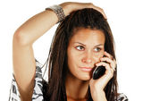 Attractive female making a phone call — Stock Photo