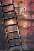 Old rusty metal ladder — Stock Photo