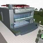 3d render of modern house — Stock Photo #2501346