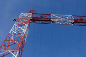 Electric cables frame structure — Stock Photo