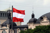 Austrian flag — Stock Photo