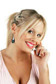 Young attractive blonde female — Stock Photo