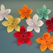 Origami flowers - Stock Photo