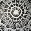 Stock Photo: White crochet doily