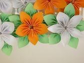 Flores de origami — Fotografia Stock