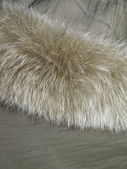 Fur and fabric — Stock Photo