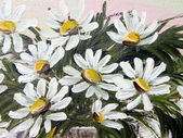 Painted marguerite flowers — Stock Photo