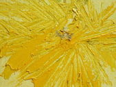 Yellow painted abstract — Stock Photo