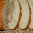 White bread on grains - Stock Photo