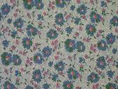 Blue floral fabric — Stock Photo