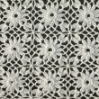 White floral crochet - Stock Photo