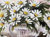 Painted marguerite flowers — 图库照片