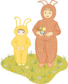 Easter childs — Stock Vector