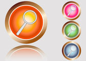 Buttons search — Stock Photo