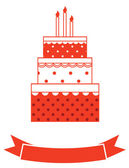 Birthday cake card — Stock Photo